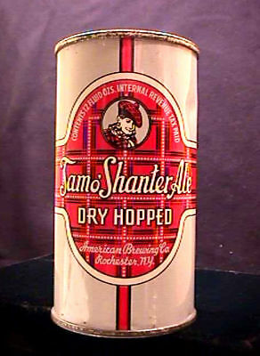 Tam O Shanter Ale Early 1940's Opening Instructional Flat Top Can Rochester Ny