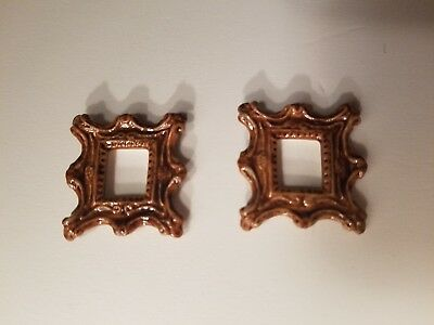 Dollhouse Miniatures Lot Of 2 Picture Frames By Artisan Ron Benson