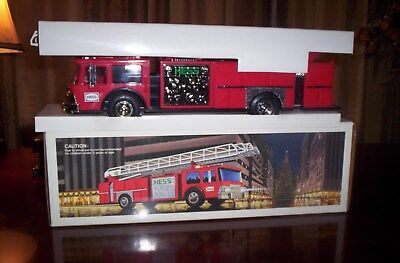 Rare 1986 Hess Fire Truck, With Gold Tint Bumper, Grill, And Gold Tint Bank Door