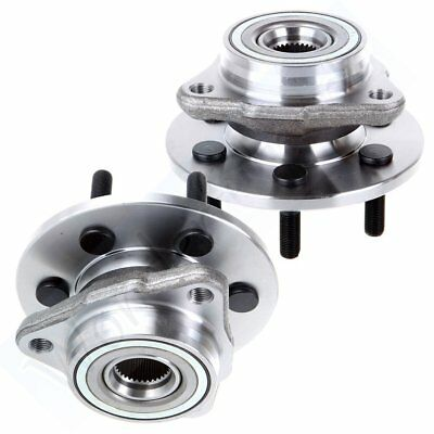 New Front Set Of 2 Wheel Hub Bearing Fits Driver Or Passenger Side 4WD 4x4 6 Lug
