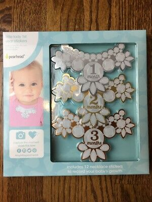 Pearhead Baby's Monthly Milestone Necklace Photo Sharing Prop Stickers