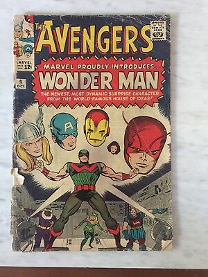 Avengers Silver Age comic book lot: Avengers 9, 35, 38.
