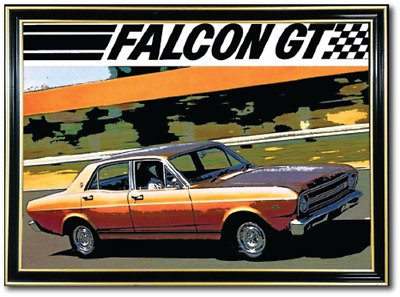 Bar Mirror Ford Falcon Xr Gt Sign Art Barware Auto Collectable Mancave Pool Room