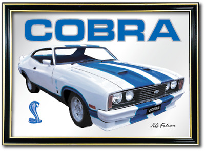 Bar Mirror Ford Xc Cobra Barware Sign Art Auto Collectable Mancave Pool Room