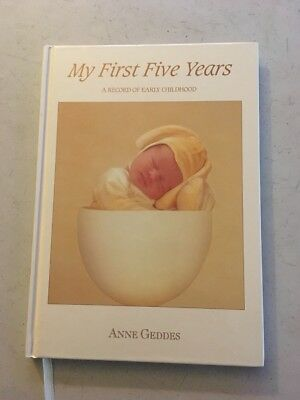 NEW Anne Geddes MY FIRST FIVE YEARS Bunny Baby Journal book RARE
