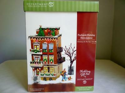 Dept 56 Parkside Holiday Brownstone #58937 - Christmas In The City Series