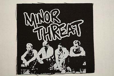 "Minor Threat Cloth Patch Sew On Badge Adicts Punk Rock  Approx4""X4"" (CP56)"