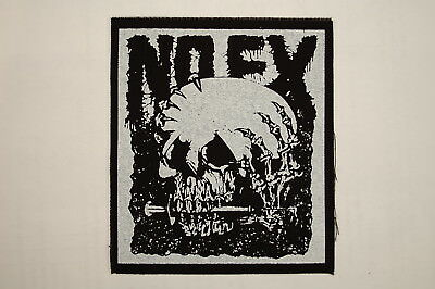 "NOFX Cloth Patch Sew On Badge Minor threat Adicts Punk Rock  4.5""X4"" (CP20)"