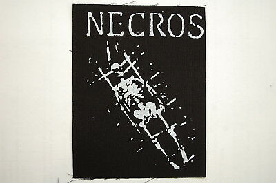 "Necros Cloth Patch Sew On Badge  Adicts Infest Crust Punk Rock  5""X3.75"" (CP39)"