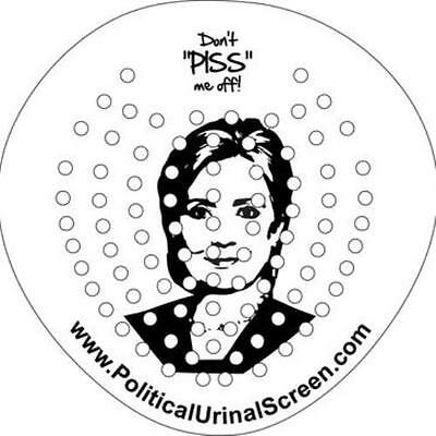 Toilet Urinal Screen Splash Guard Cinnamon Scented Hilary Clinton Political