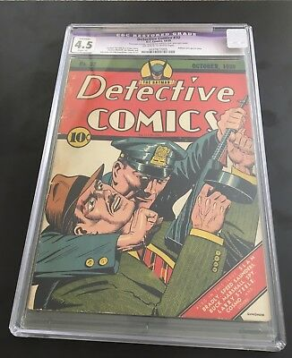 Detective Comics #32 (DC, 1940) CGC 4.5 Slight (A)  Early Batman! Scarce!