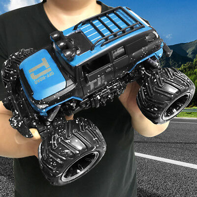 RC Car Monster Truck 2.4Ghz Off-Road Brushed Remote Control Electric RTR BLUE