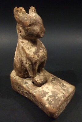 Large Ancient Egyptian Wooden Cat Figure - New Kingdom - 1550 to 1069 BC