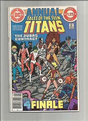 Tales of the Teen Titans Annual #3VF/NM ( DC)JUDAS CONTRACT FINALE COMBINE SHIP