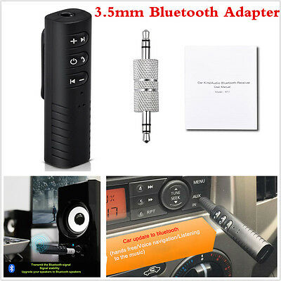 3.5mm AUX Car Wireless Bluetooth Speaker AUX Audio Stereo Music Receiver Adapter