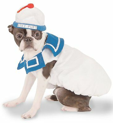 Ghostbusters Movie Collection Dog Costume, Stay-Puft Marshmallow Man, Medium NWT
