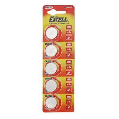 5pcs / Pack CR2025 3V Volt Button Cell Coin Battery for Watch Remote Toy Camera
