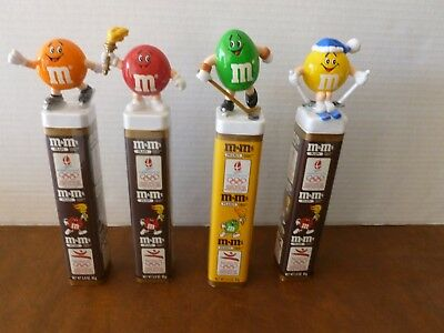 1992 Olympics XVI Albertville France Official Snack Food M&M's set of 4 empty