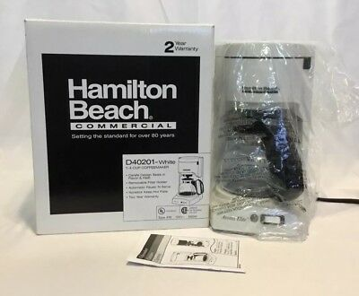 Hamilton Beach 4 Cup Commercial Coffee Maker Aroma ElIte D40201-White 550Watts