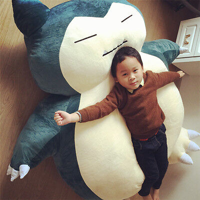 Giant Snorlax Plush Kabigon Dolls Bed Zip Cover 59'' Cartoon Case Unfilled Gifts