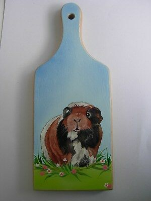 GUINEA PIG  HANDPAINTED wooden cutting board