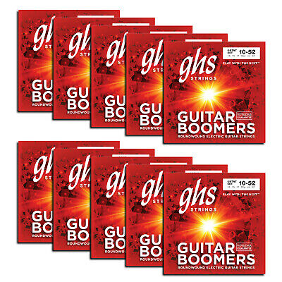 GHS Strings GBTNT-10 SET Nickel Plated Electric Guitar Strings, Thin Thick 10-52