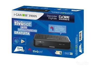 I-CAN 3900S DECODER  TIVU' SAT HD con tessera tivusat  HD Gold compresa new.