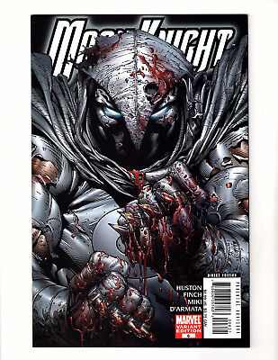 """Moon Knight #6 (2006, Marvel) VF+ 1:10 """"Bloody"""" Variant Cover by David Finch"""