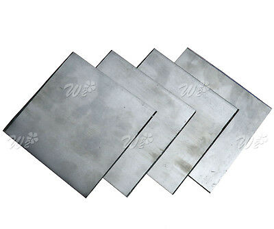 5 Pcs Pure Zinc Zn Plate for Science Lab 100x100x0.2mm High Purity 99.99%