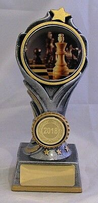 Chess Flame Tower Trophy 175mm  Engraved FREE