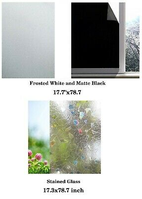Blackout Static Cling Tint Window Film For Privacy To Block Sun UV Protection