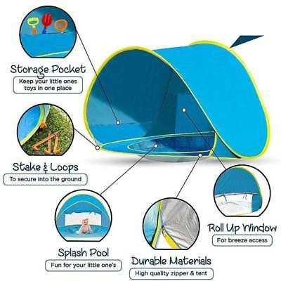 Baby Beach Tent Pop Up Playing Fun  Shade 50+UV-Protection quick Baby Pool Tent