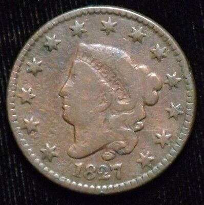 1827 United States Large Cent  VG - Fine