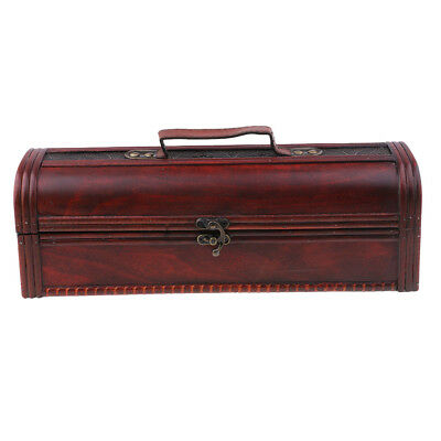 Antique Finish Retro Wine Gift Box Wood Wine/Jewelry Storage Organizer Case