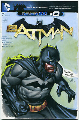 Batman #0 blank variant cover with sketch by David Finch