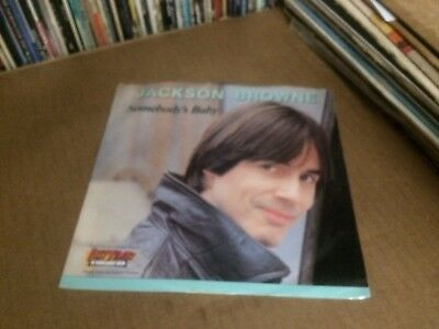 """Jackson Browne Somebody's Baby Pic Sleeve And Vinyl 45 7"""" Z"""