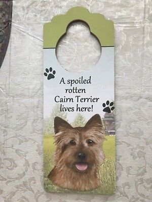 Cairn Terrier Dog Theme Wooden Door Hanger