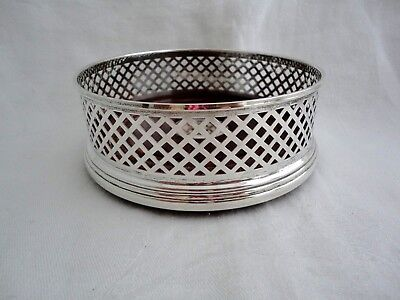 FANTASTIC LARGE SOLID SILVER CHAMPAGNE  COASTER BROADWAY & Co BIRMINGHAM c2001
