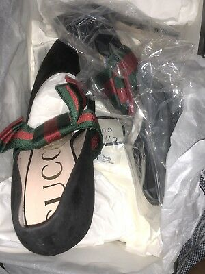 bf9fe418cb GUCCI SUEDE PUMPS With Removable Web Bow