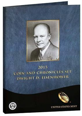 2015 Dwight D. Eisenhower Coin and Chronicles Set.