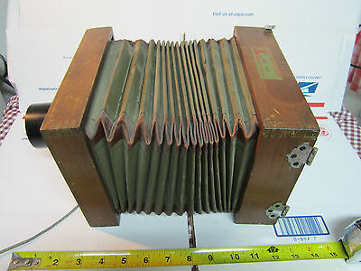 Antique Film Wood Camera Accordion  Alphax Shutter  Collectable