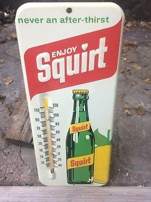 vintage never an after thirst enjoy Squirt thermometer pop adv,