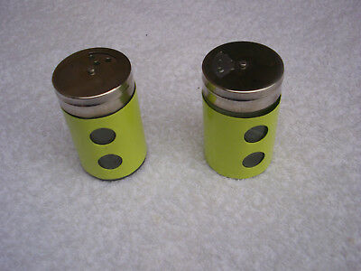 SOLID GLASS SALT & PEPPER SHAKER SET Stainless Steel Top