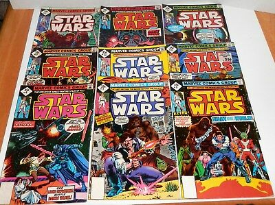 1977-78 Vintage Marvel Star Wars Comic Lot of 9 Different Reading Copies-#3-13