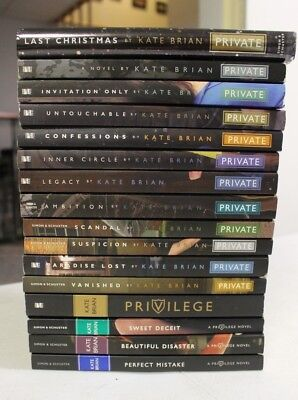 Private novel series lot 6 kate brian young adult teen legacy lot 16 kate brian private novel series privilege 1 4 vanished paradise lost ya stopboris