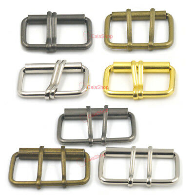 38mm 50mm Double Prong Roller Buckle Belt Leather Bag Clasp Strap Fabric crafts