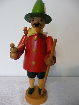 German Wood Smoker Figure With Birds