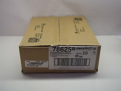 Case of 10 NEW GE High Efficiency Electronic Ballasts GE432MAX-L/ULTRA 78625