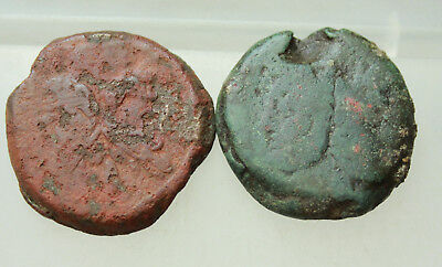 Roman Republican  Lot of 2x AE Coins AS Janus / Prow  D=30-32mm