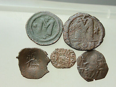 Lot of 5x Byzantine AE Coins   D=18-30mm